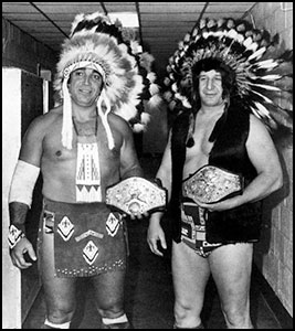 Jay Strongbow - Billy White Wolf - historyofwrestling.com