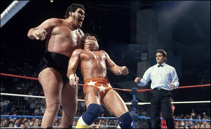 Randy Savage - Andre the Giant - historyofwrestling.com